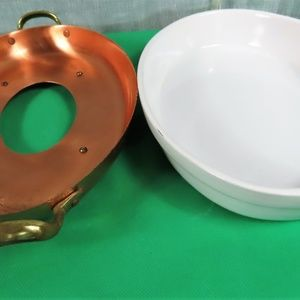 Copper Bottom and Ceramic Baking Dish By WIlliams